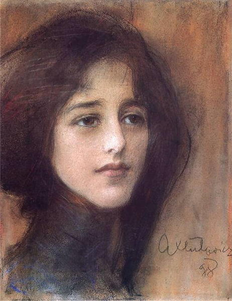 Teodor Axentowicz, Portrait of a Woman