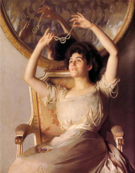 William McGregor Paxton, The String of Pearls
