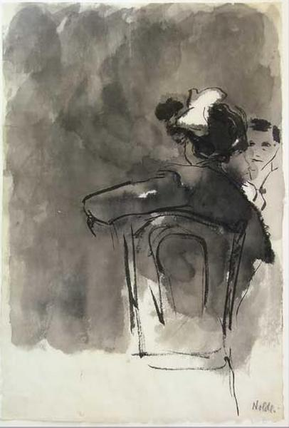 Emil Nolde, Couple in a Cafe