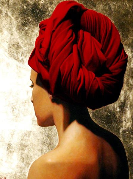 Toby Boothman, Girl with Red Turban