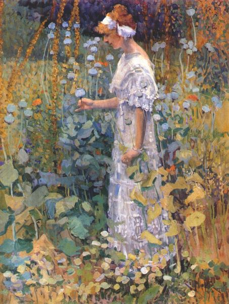 Jane Peterson Quot Hollyhocks Quot